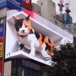 Esse Outdoor Gigante Hiper-realista 3D Em Tóquio Viralizou Nas Redes Sociais